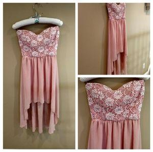 Windsor Peach High Low Dress